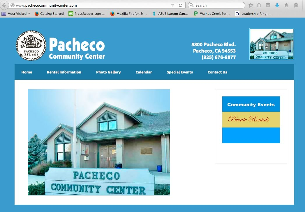 pachecocommunitycenter website